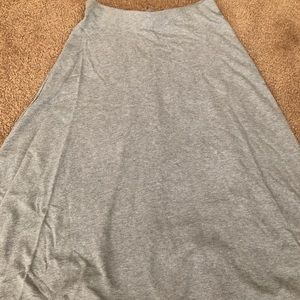 Zara gray cotton skirt